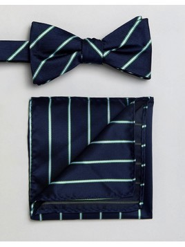 Selected Homme Bow Tie&Pocket Square - Multi