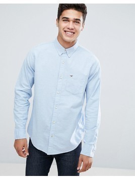 Hollister Button Down Collar Slim Fit Oxford Shirt in Blue - Blue
