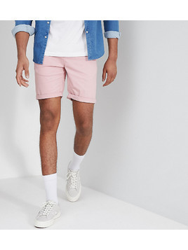 ASOS DESIGN Tall Slim Chino Shorts In Pastel Pink - Pink