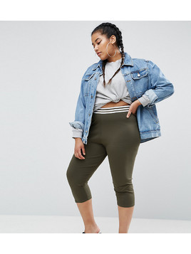 ASOS CURVE Tipped Over The Knee Legging - Green