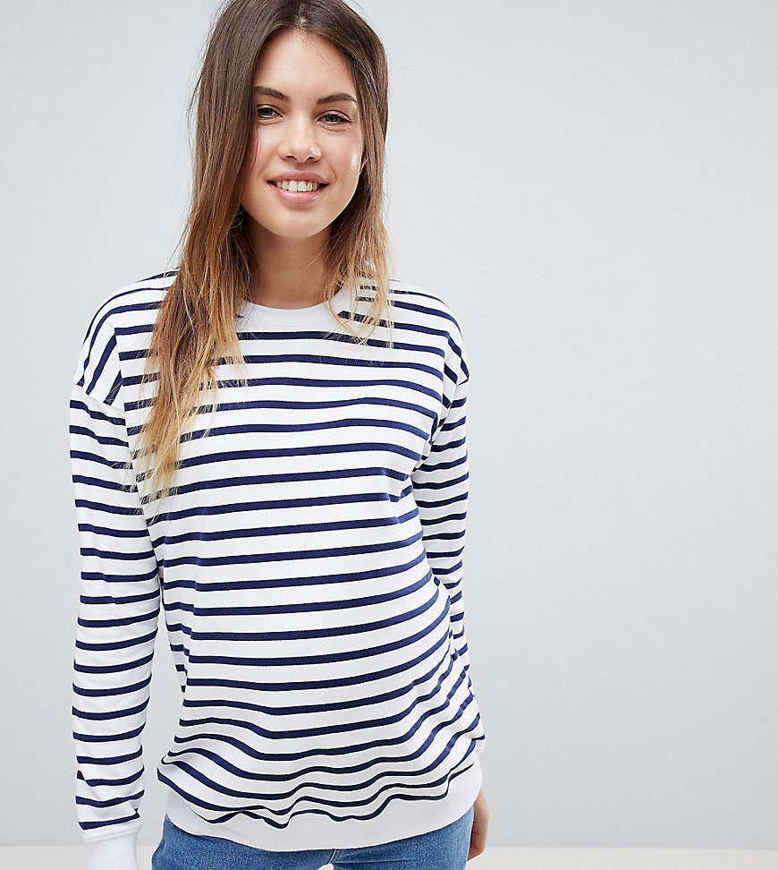 ASOS DESIGN Maternity sweat in stripe - Multi