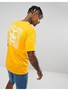 Obey T-Shirt With Creeper Wall Back Print - Yellow