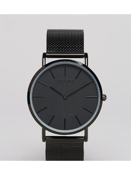 Reclaimed Vintage Inspired Classic Mesh Strap Watch In Black Exclusive to ASOS - Black