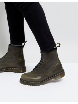 Dr Martens 1460 8-Eye Boots In Dark Taupe - Brown