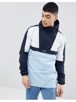 Nicce London Overhead Retro Jacket - Navy