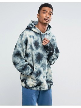 Weekday Big Hawk Tie-Dye Hoodie - Black