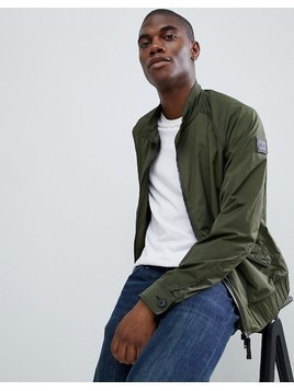 BOSS Osames Harrington Jacket in Khaki - Green