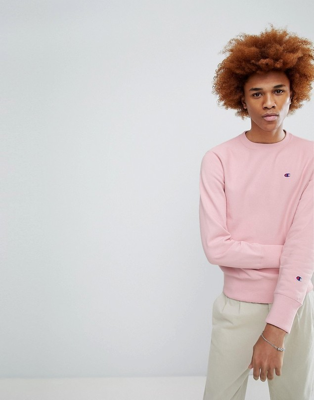 Champion Sweatshirt With Small Logo In Pink - Pink
