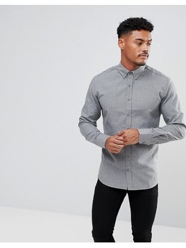 Kronstadt Dean Flannel Basic Shirt - Grey