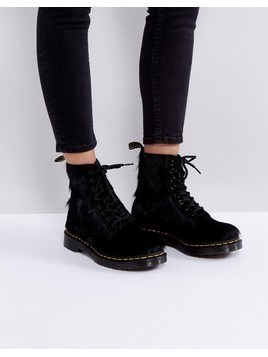 Dr Martens 1460 Pony Hair Boots - Black