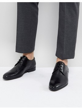 Zign Leather Formal Lace Up Shoes In Black - Black