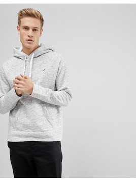 Hollister Icon Logo Hoodie in Grey - Grey