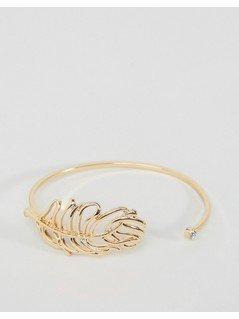 ASOS Open Leaf Bracelet - Gold