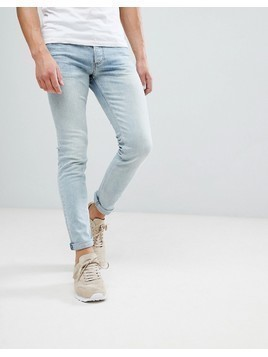River Island Skinny Jeans In Light Blue Wash - Blue