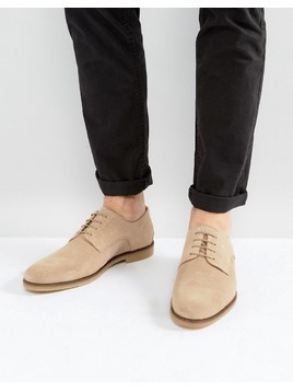 Zign Suede Desert Shoes In Stone - Stone