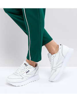 Fila Platform Orbit Trainers In White - White