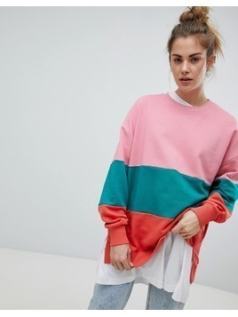 Pull&Bear Colourblock Sweater - Multi