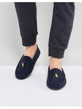 Ralph Lauren Dezi Moccasin Slippers - Blue