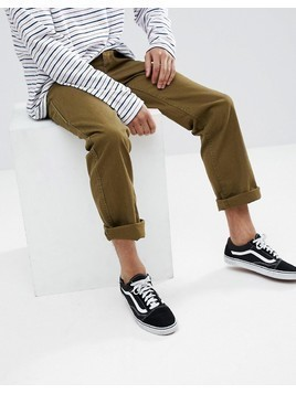 Brixton Fleet Rigid Carpenter Chino in Relaxed Fit - Green