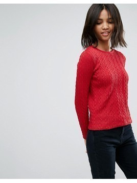 Esprit Cable Knit Jumper - Red