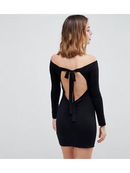 ASOS PETITE Mini Bodycon Dress with Bow Back - Black