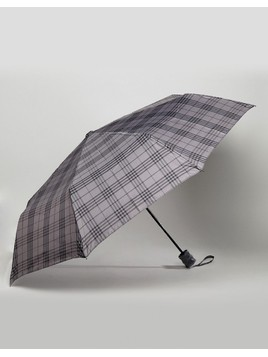 Peter Werth Umbrella In Grey Check - Grey