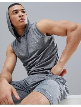 French Connection Sleeveless Hoodie - Grey