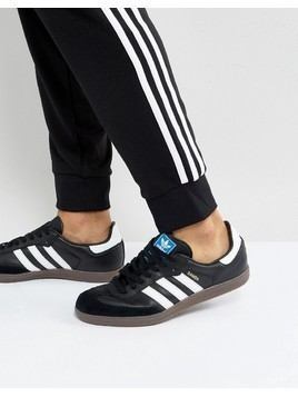 adidas Originals Samba Trainers In Black BZ0058 - Black