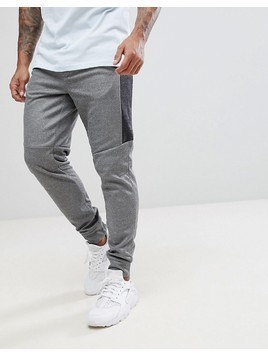 Nicce London Skinny Track Joggers In Grey - Grey