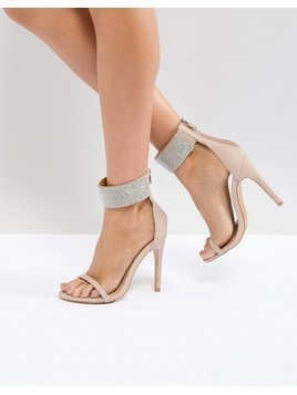 Truffle Collection Embellished Heeled Sandals - Beige