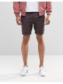 ASOS Chino Shorts In Skinny Fit In Mid Length - Black