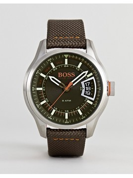 BOSS Orange By Hugo Boss Hong Kong Watch With Black Dial - Brown