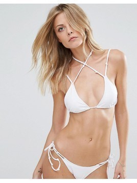 Minimale Animale White Triangle Bikini Top - White