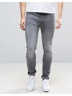 Love Moschino Skinny Fit Jeans with Moschino Tab and Back Waist Branding - Grey