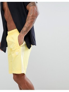 adidas Originals adicolor Swim Shorts In Yellow CW1307 - Yellow