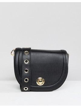 Pimkie Cross Body Saddle Bag - Black