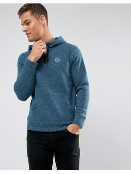 Hollister Overhead Hoodie Athletic Icon Logo in Navy Marl - Navy