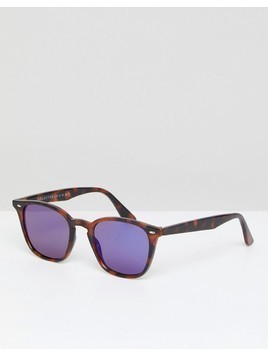 Selected Homme Retro Sunglasses - Brown