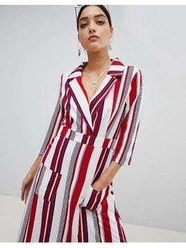 PrettyLittleThing Striped Maxi Shirt Dress - Multi