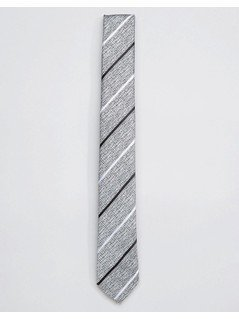 Selected Homme Tie with Stripe - Grey