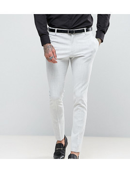 Religion Super Skinny Suit Trousers in Pale Grey - Grey