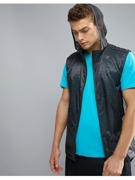 adidas Gym Flocked Zip Running Vest - Grey