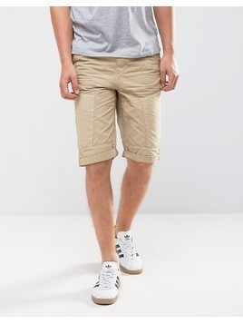 Loyalty and Faith Drawstring Shorts - Beige