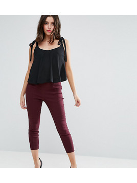 ASOS PETITE Skinny Crop Trousers - Purple