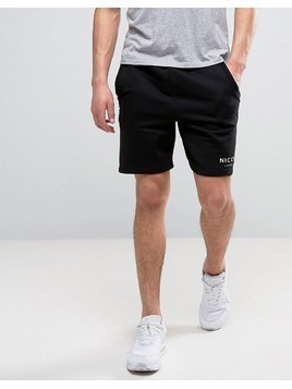Nicce London Logo Shorts In Black - Black