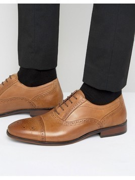 Red Tape Lace Up Brogue Smart Shoes In Tan - Tan