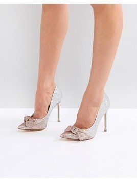 River Island Ombre Glitter Heeled Court Shoes - Gold