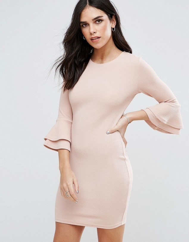 AX Paris Flute Sleeve Mini Dress - Pink
