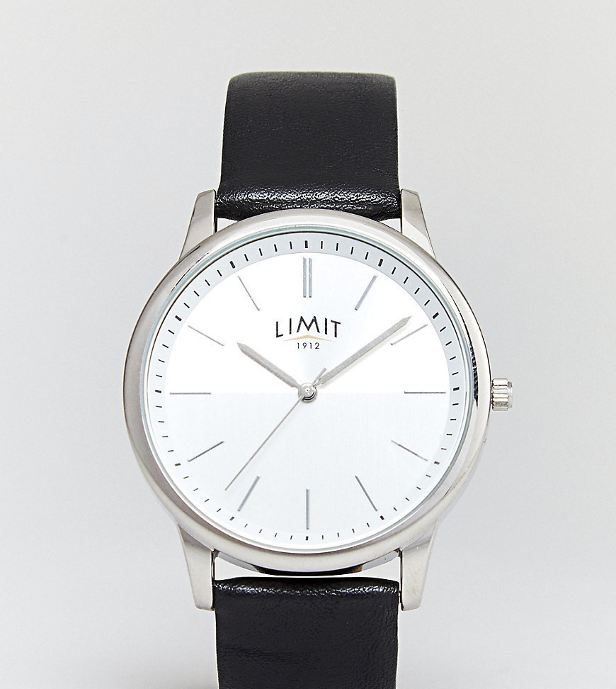 Limit Faux Leather Watch Exclusive To ASOS - Black
