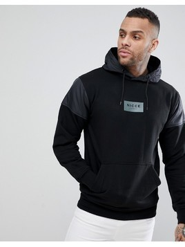 Nicce London Track Hoodie In Black - Black